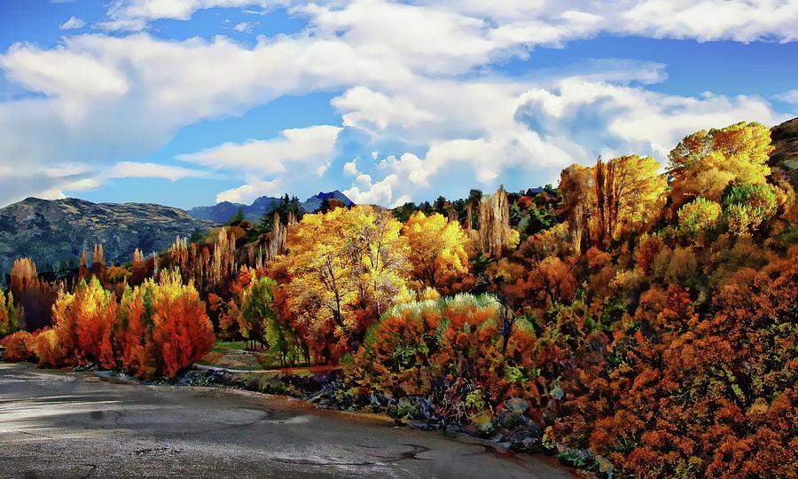 Shotover River Autumn Scene Photograph
