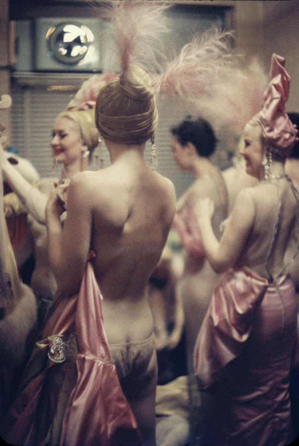 Show Girls Back Stage At The Latin Photograph by Gordon Parks