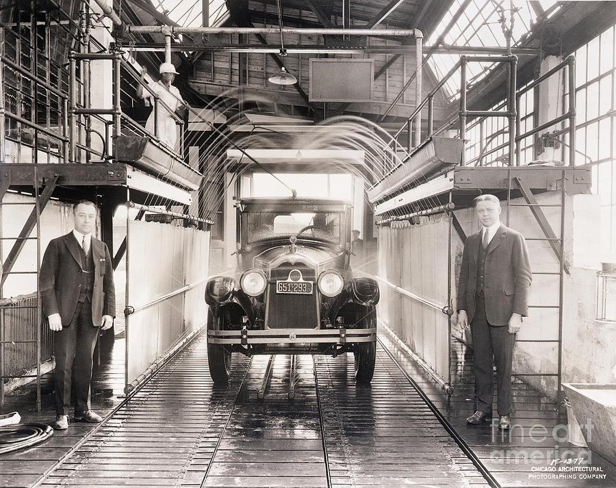 Shower Bath At Worlds First Car Wash Photograph by Bettmann