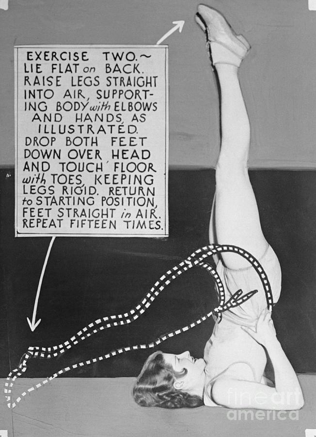 Showgirl Demonstrating Exercising Photograph by Bettmann