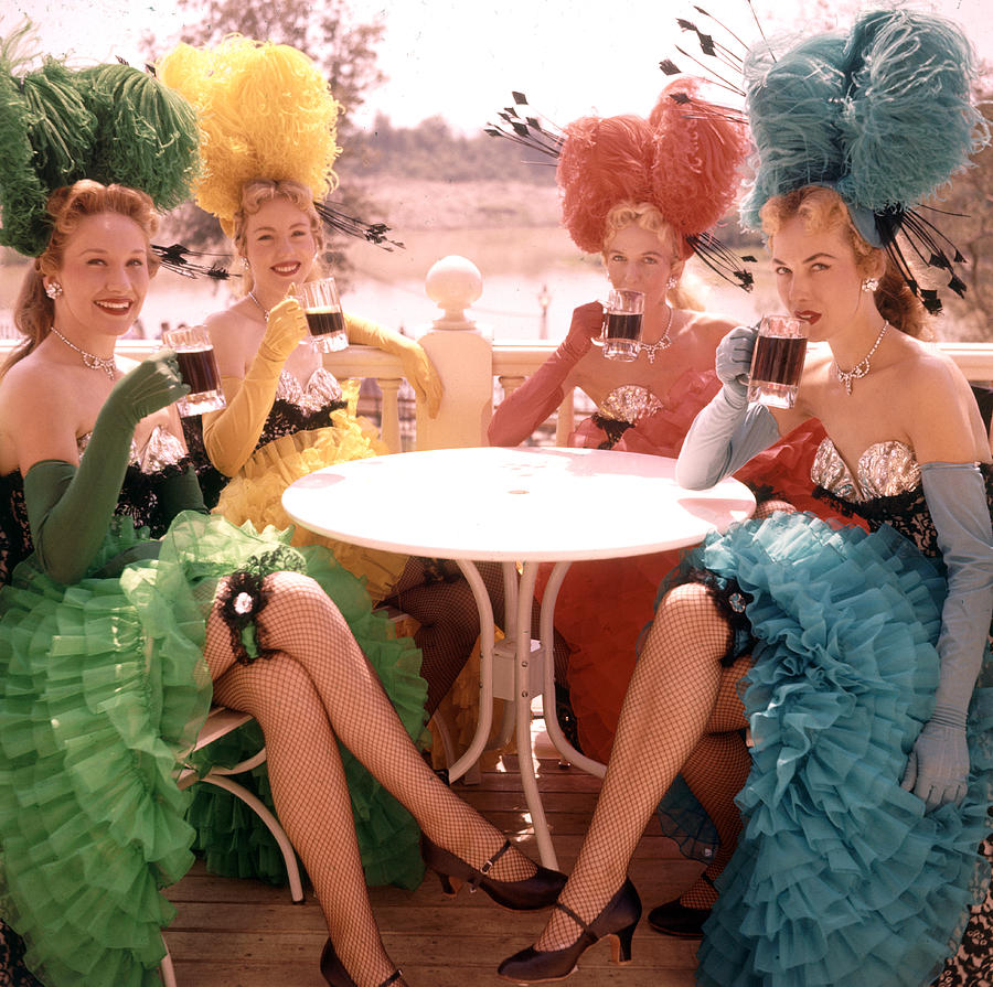 Showgirls At Disneyland Photograph by Loomis Dean