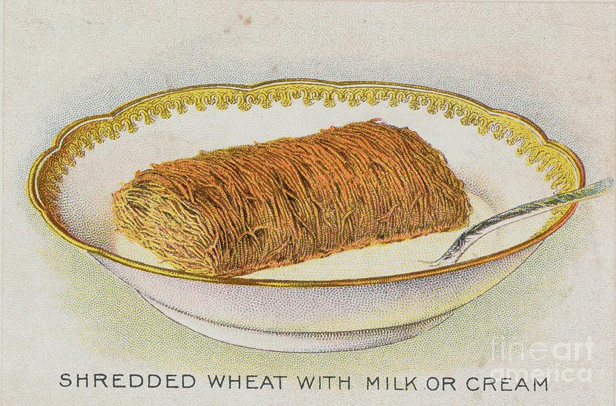 Shredded Wheat With Milk Or Cream Photograph by Bettmann