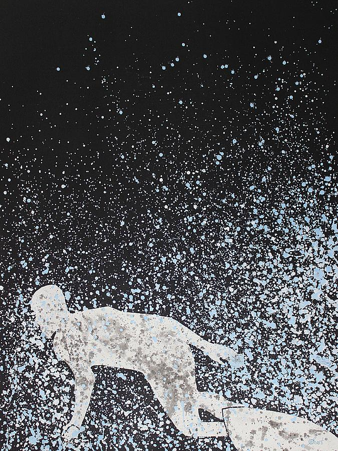 Shredding original painting by Sol Luckman