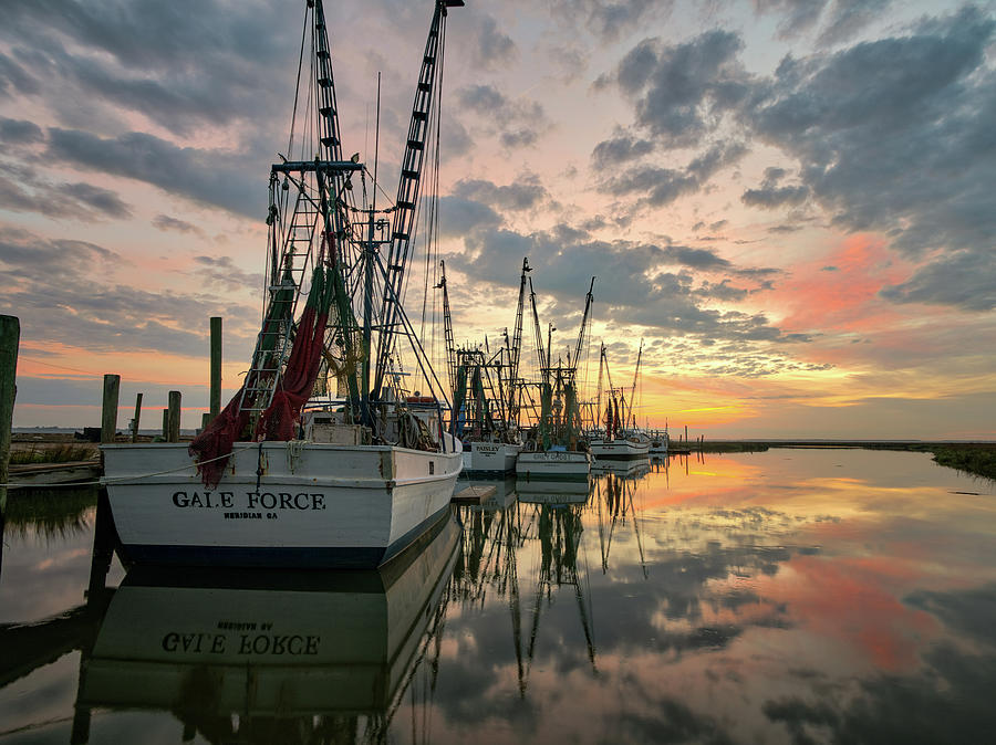 Shrimp Boat sunrise 24 by Kenny Nobles
