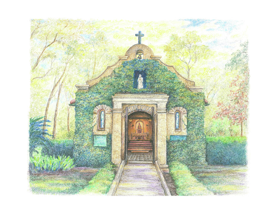 Shrine Drawing - Shrine of Our Lady of La Leche by Scott Stafstrom
