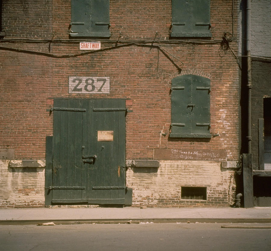 Shuttered Warehouse On South Street, Lit Photograph by Walker Evans