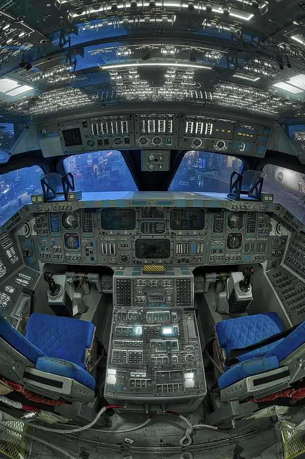 Shuttle Cockpit, Space Center Houst by Dave Wilson