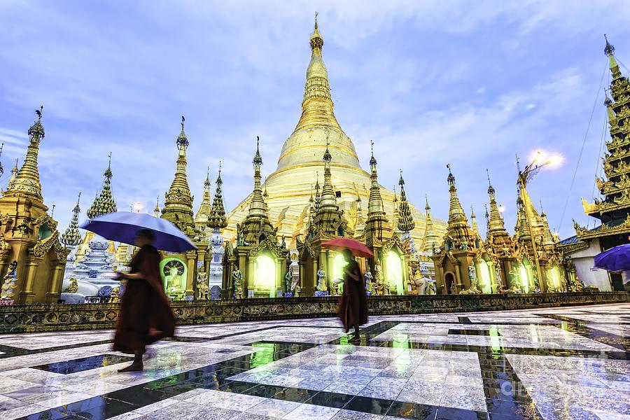 Big Photograph - Shwedagon Pagoda In Yangon, Myanmar At by Richard Yoshida