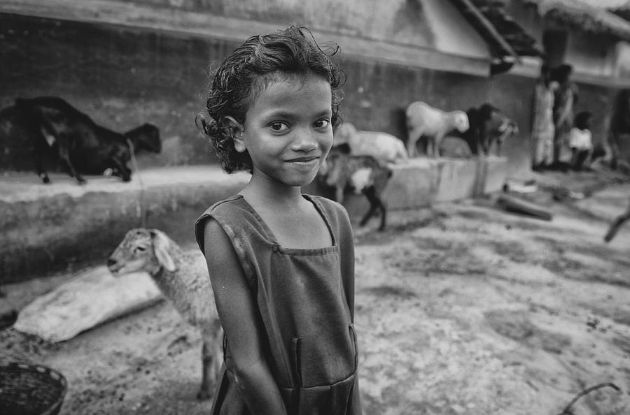 Child Photograph - Shy Smile by Avishek Das