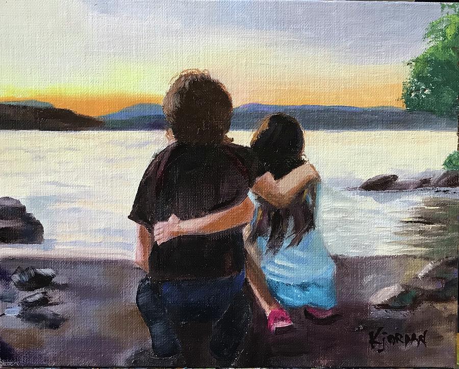 Sibling Love Painting by Karen Jordan