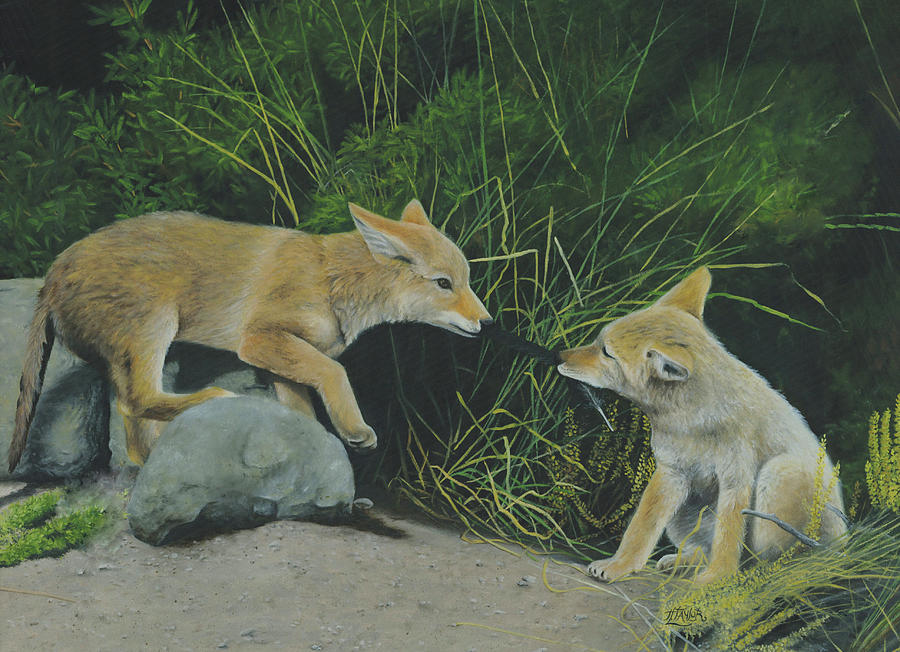 Sibling Rivalry Painting by Tammy Taylor