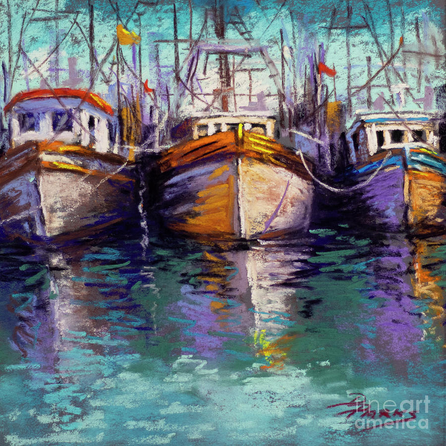 Diane Parks Painting - Side By Side by Dianne Parks