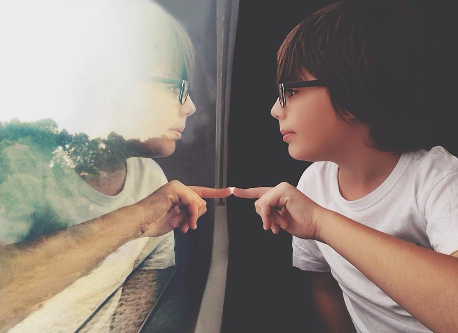 Side View Of Cute Boy With Reflection Photograph by Dina Alfasi / Eyeem