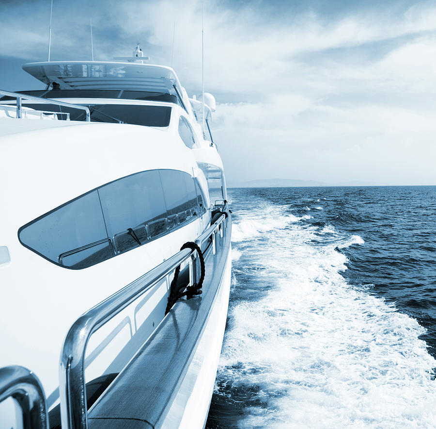 Side View Of Luxury Yacht Sailing The Photograph by Petreplesea