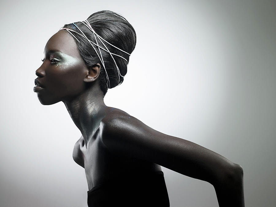 Side View Of Woman With Metallic Make Up Photograph by Image Source