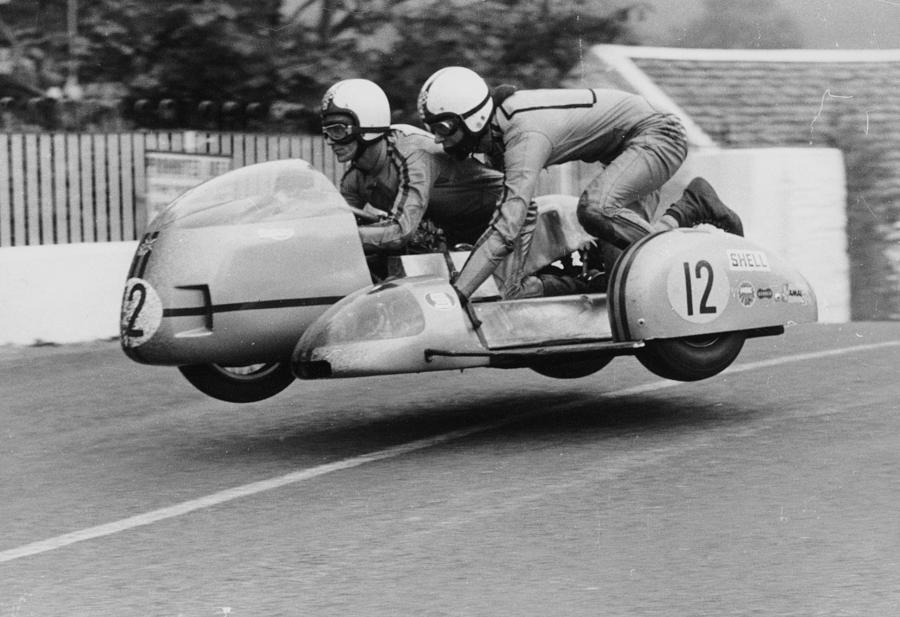 Sidecar Tt Race, Isle Of Man, 1970 Photograph by Heritage Images