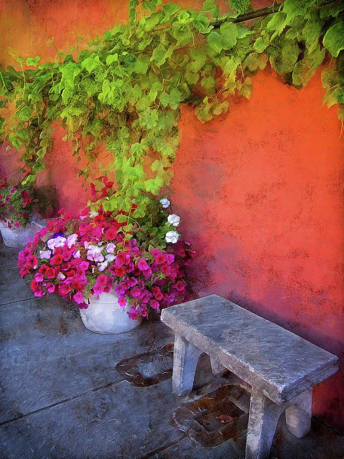 Sidewalk Floral In Brownsville by Thom Zehrfeld
