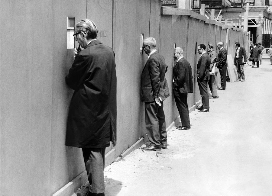 Sidewalk Superintendents Watching Photograph by New York Daily News Archive