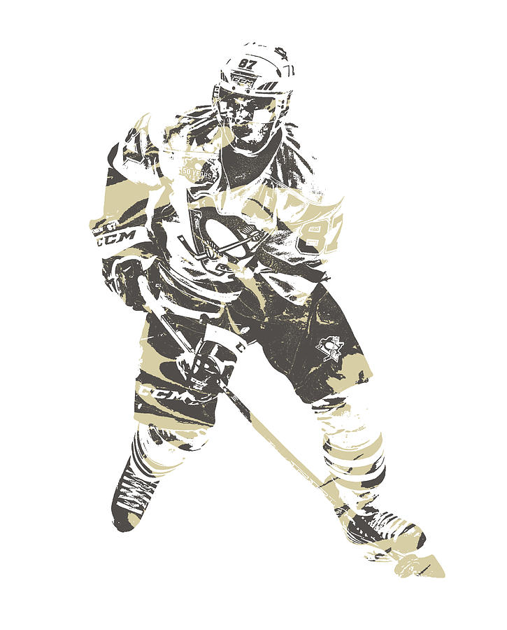 Sidney Crosby Mixed Media - Sidney Crosby Pittsburgh Penguins Pixel Art 23 by Joe Hamilton