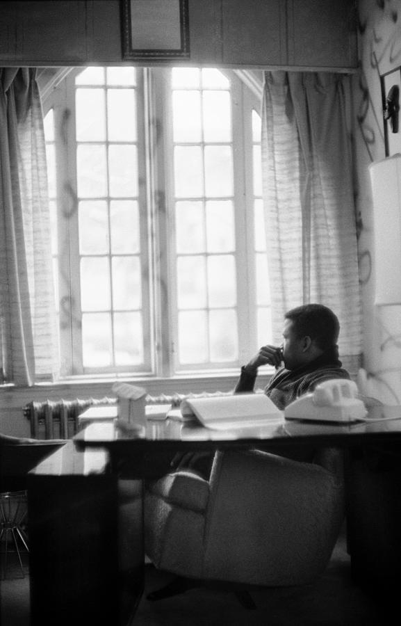 Sidney Poitier Looks Through A Window Photograph by Gordon Parks