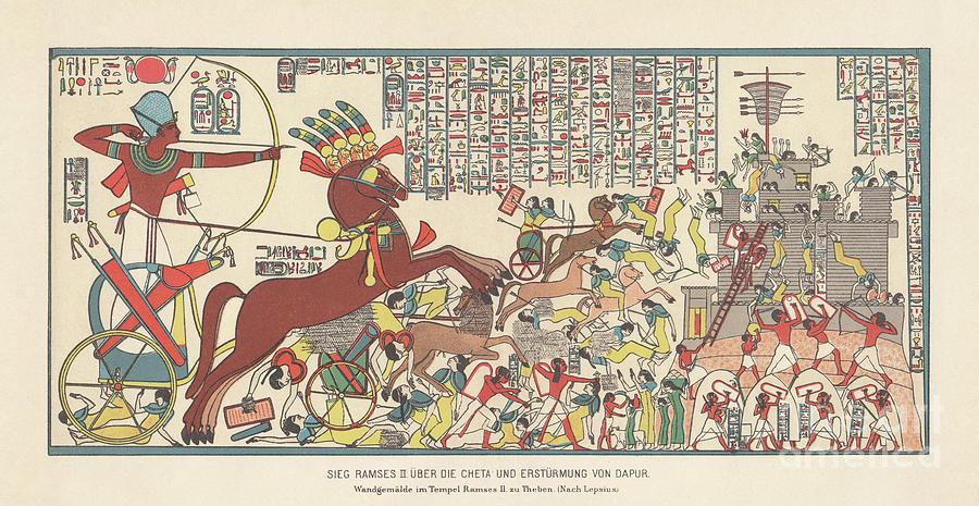 Siege Of Dapur By Ramesses II 1269 Bc Digital Art by Zu 09