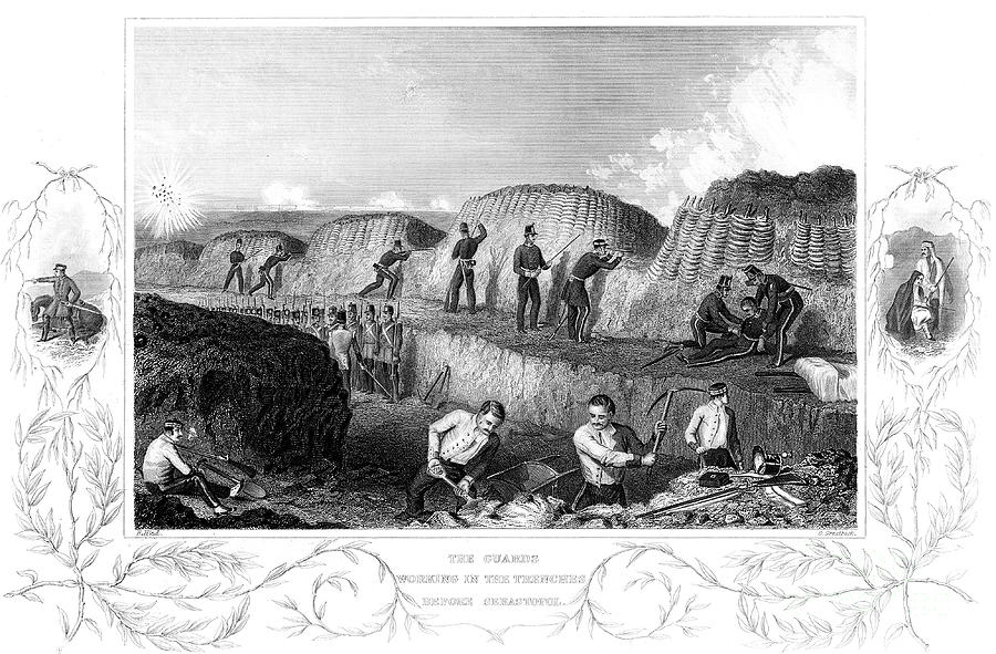 Siege Of Sebastopol, Crimean War Drawing by Print Collector