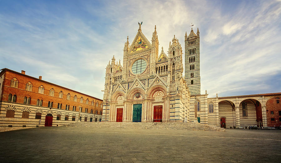 Siena Italy Cathedral and Piazza by Joan Carroll
