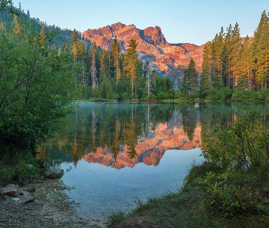 Sierra Buttes From Sand Pond, Tahoe by Tim Fitzharris
