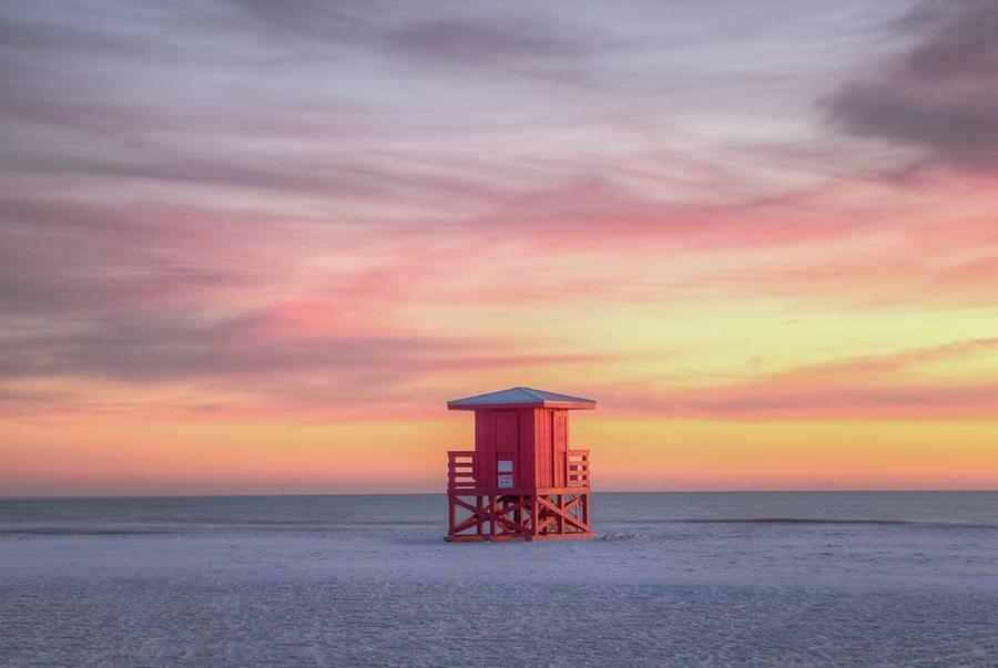 Siesta Beach Sunset by Paul Schultz