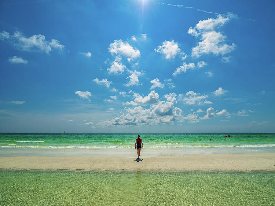 Siesta Photograph - Siesta Key Beach by Curtis Patterson