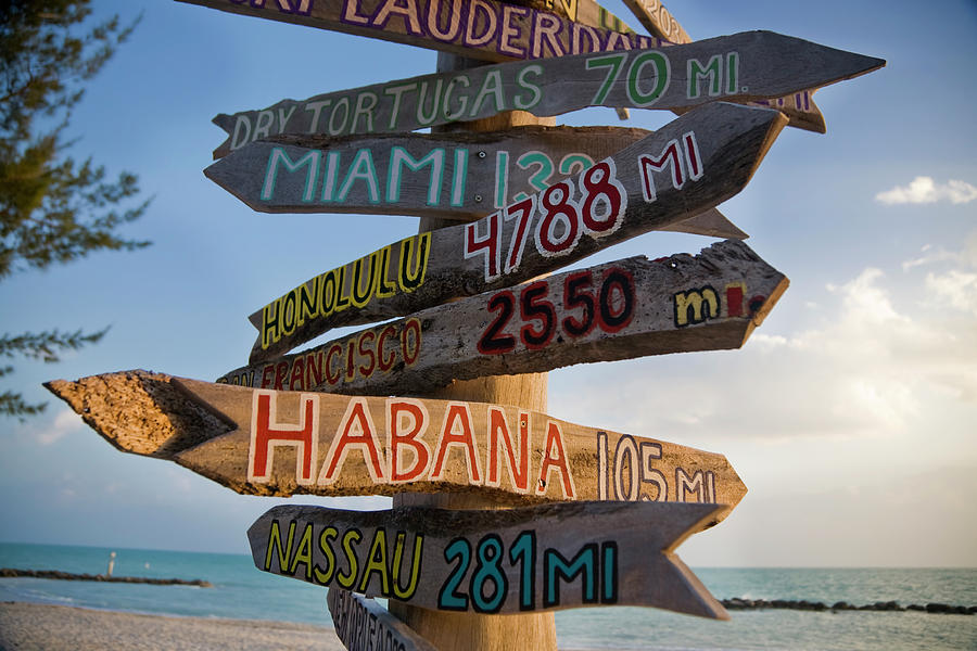 Sign In Key West Photograph by Cristianl