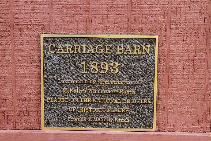 Sign On Carriage House Photograph