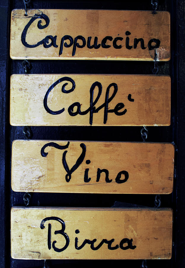 Sign Outside A Bar In Venice Photograph by Gary Yeowell