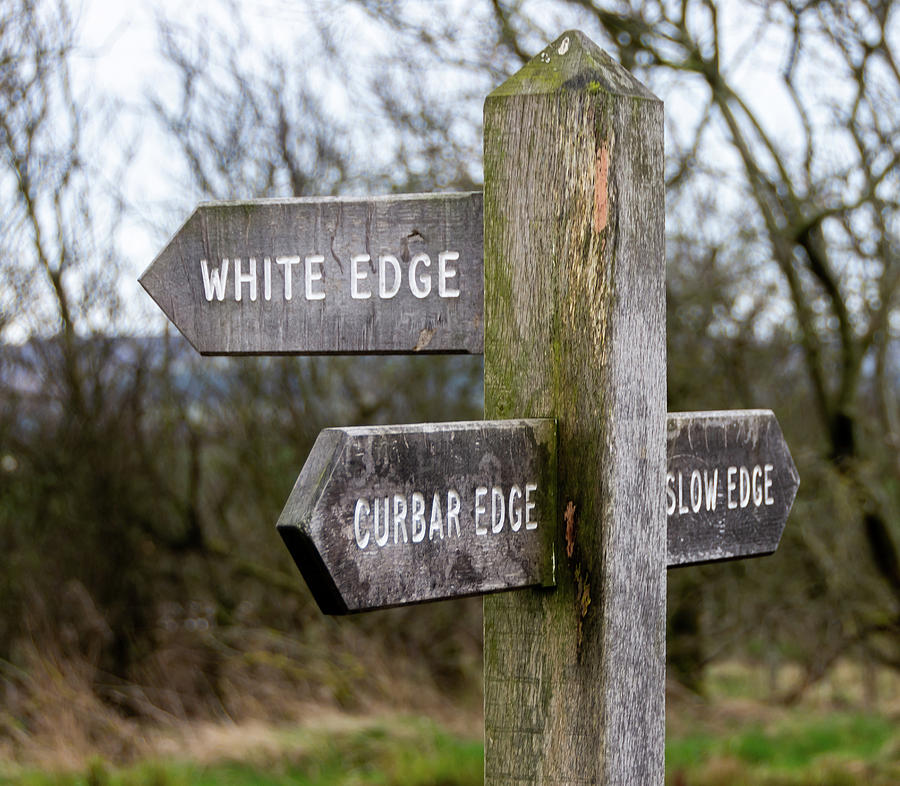 Sign to Curbar Edge by Scott Lyons