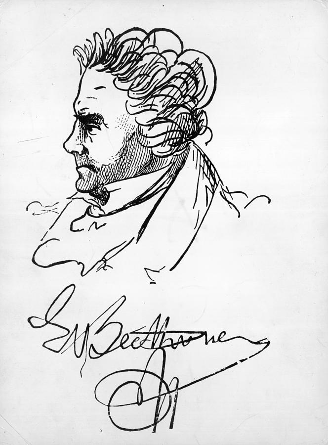 Signed Ludwig Digital Art by Hulton Archive