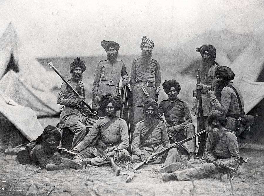 Sikh Soldiers Photograph by Felice Beato