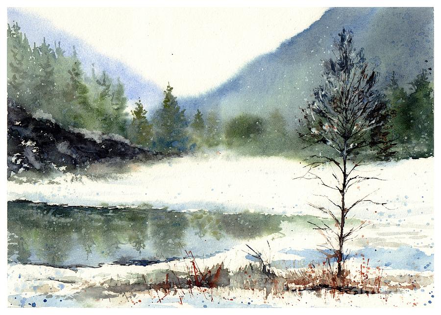 Watercolor Painting - Silent Exile by Suzann Sines