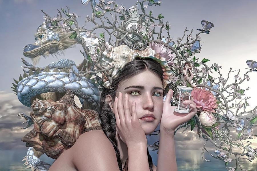 Surreal Digital Art - Silent Messenger by Betsy Knapp