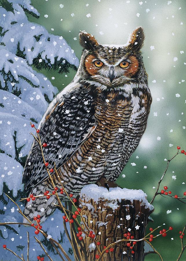Silent Watch Painting By William Vanderdasson
