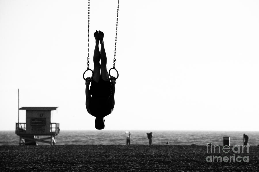 Usa Photograph - Silhouette Of A Person Swinging On by Celso Diniz