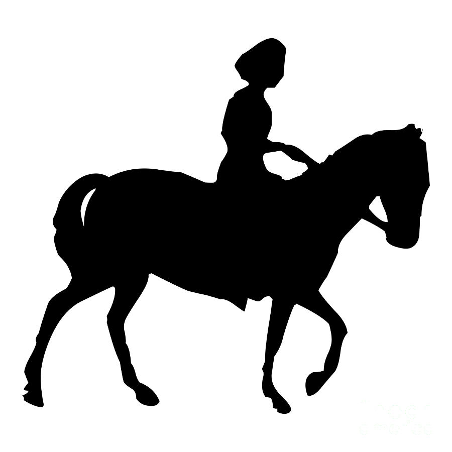 Silhouette of a Woman on Horseback by Rose Santuci-Sofranko