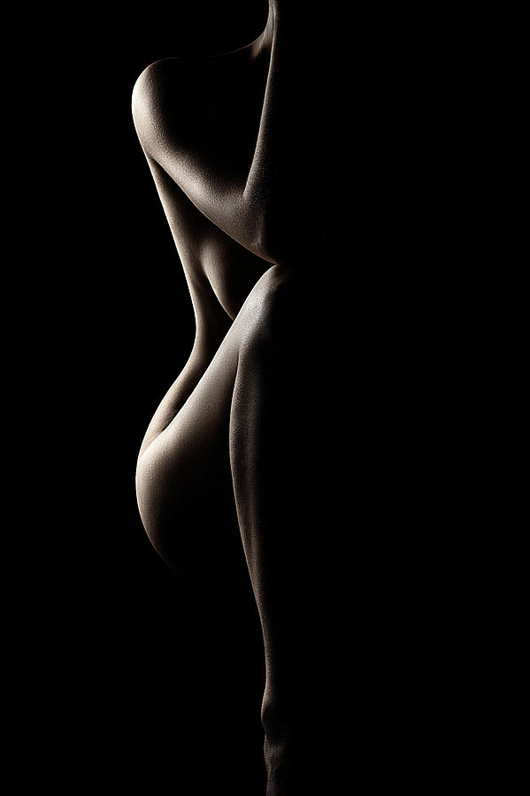 Nude Photograph - Silhouette of nude woman by Johan Swanepoel