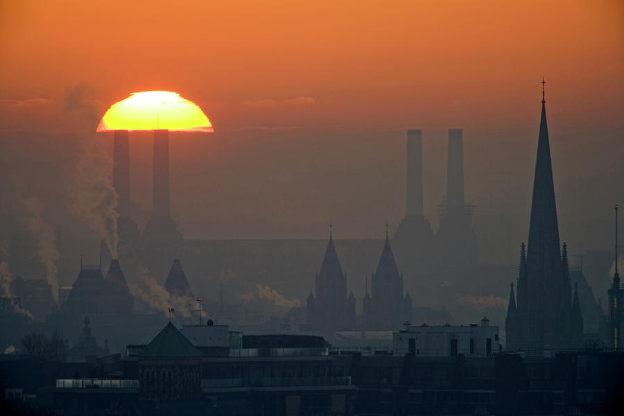 Silhouettes Of Chimneys And Spires Photograph by James Burns