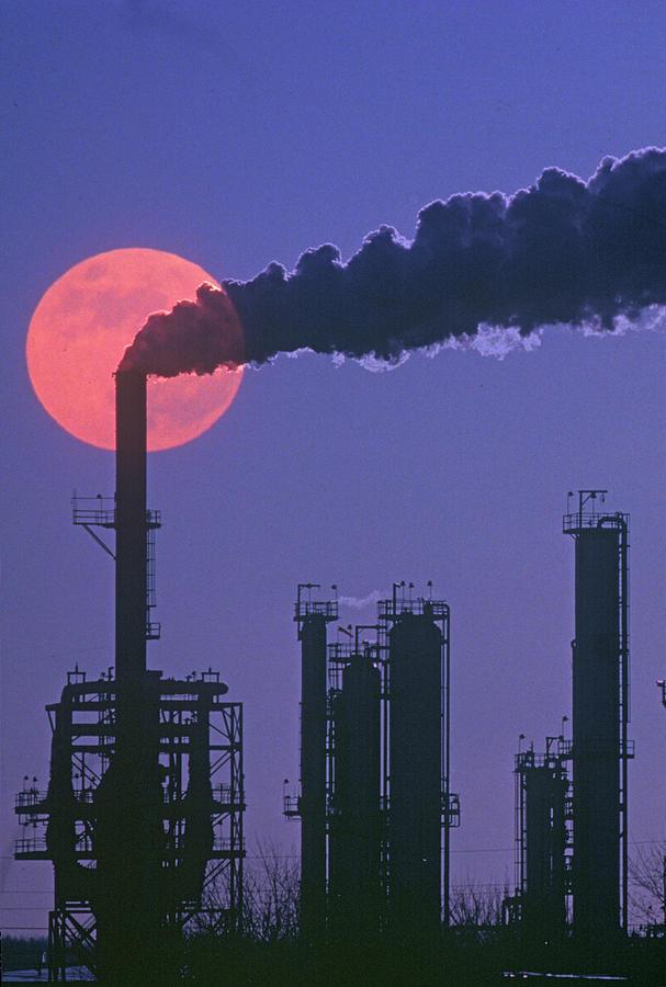 Silhouettes Of Factory Smokestacks And Photograph by Visionsofamerica/joe Sohm
