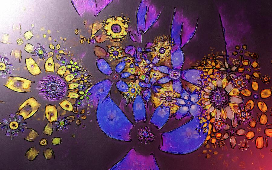 Silked Floral Abstract by Catherine Lott