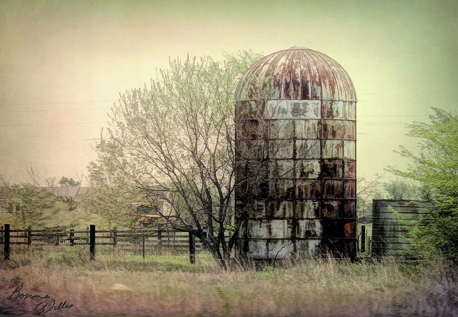 Silo on a Farm by Bonnie Willis
