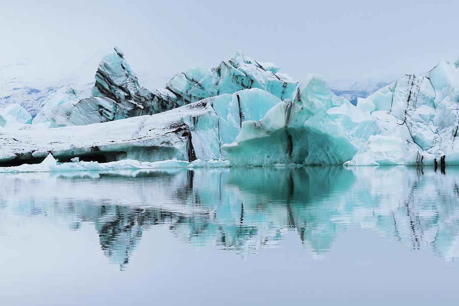 Silt-streaked Icebergs At Jökulsárlón Photograph by Anna Gorin