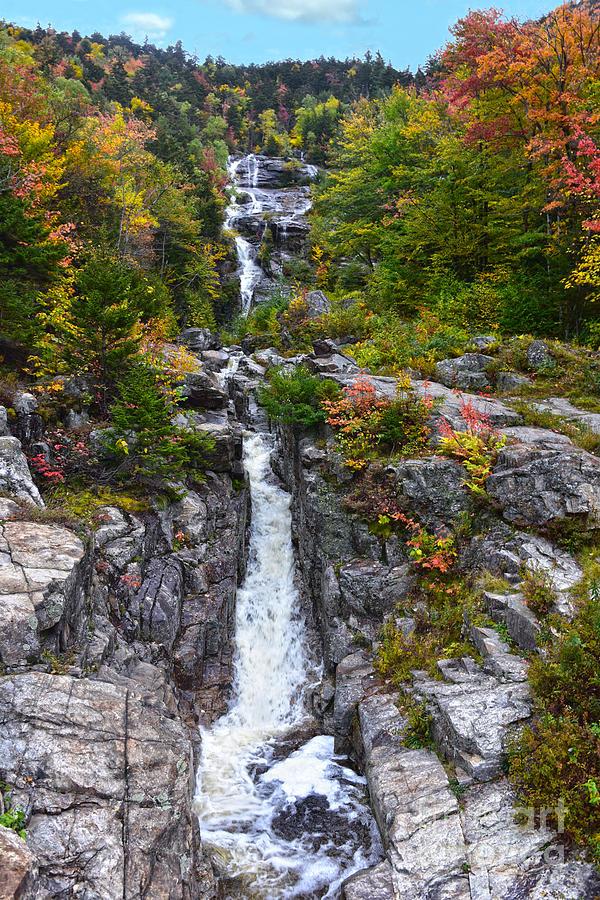Silver Cascade In Autumn Photograph