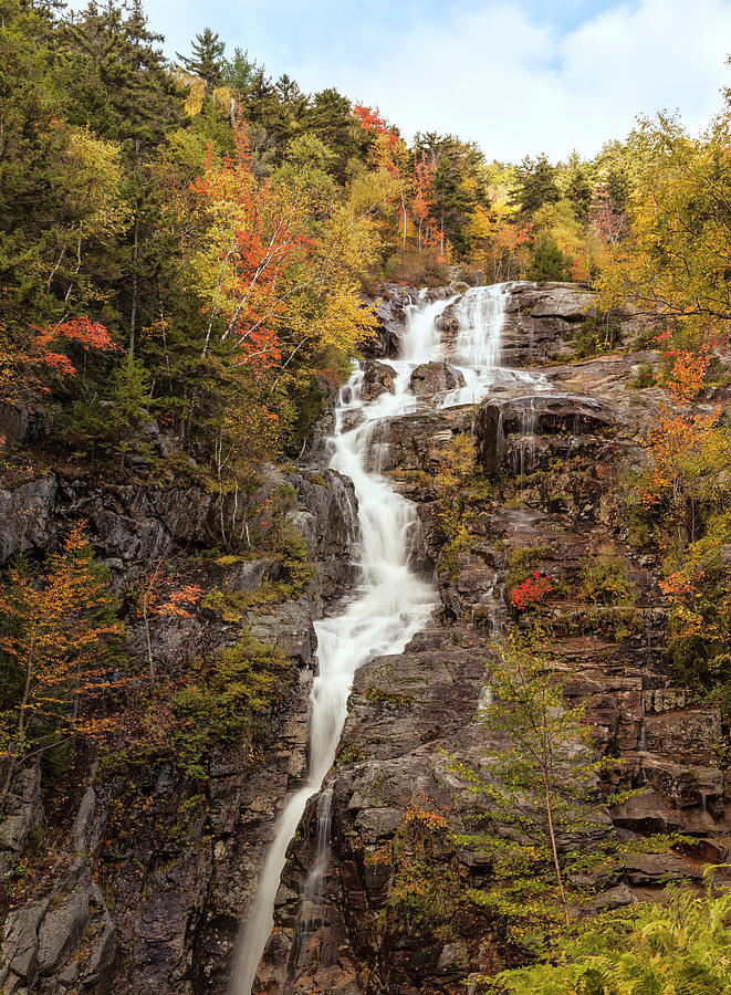 Silver Cascade Waterfall, White Photograph by Picturelake