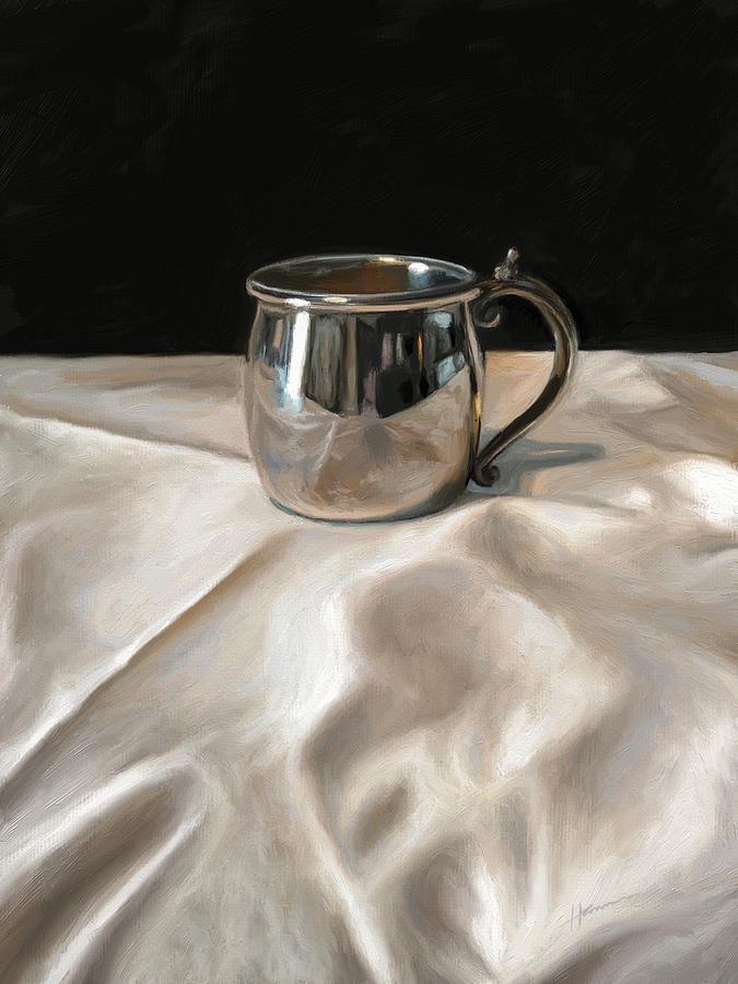 Still Life Painting - Silver Cup by Shelley Hanna